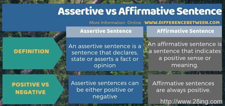 Difference Between Assertive and Affirmative Sentence l Assertive vs Affirmative Sentence