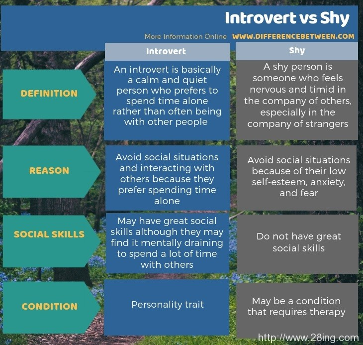Difference Between Introvert and Shy | Introvert vs Shy